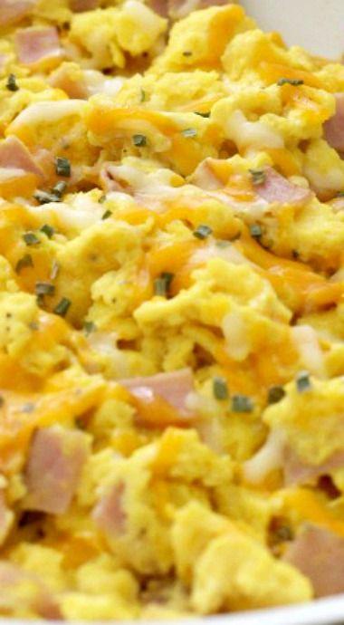 The Best Ham & Cheese Scrambled Eggs