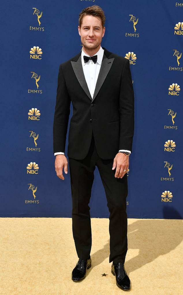 Justin Hartley From 2018 Emmys Red Carpet Fashion In Armani Red Carpet Fashion Red Carpet Ready Fashion