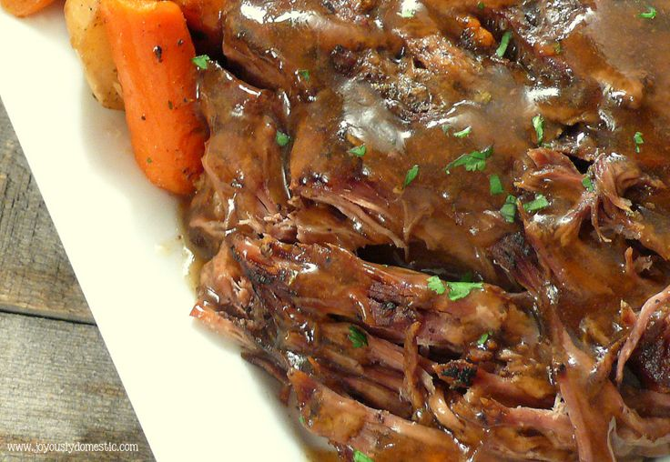 "Slow Cooker ""Melt in Your Mouth"" Pot Roast from @JoyouslyDomestic"
