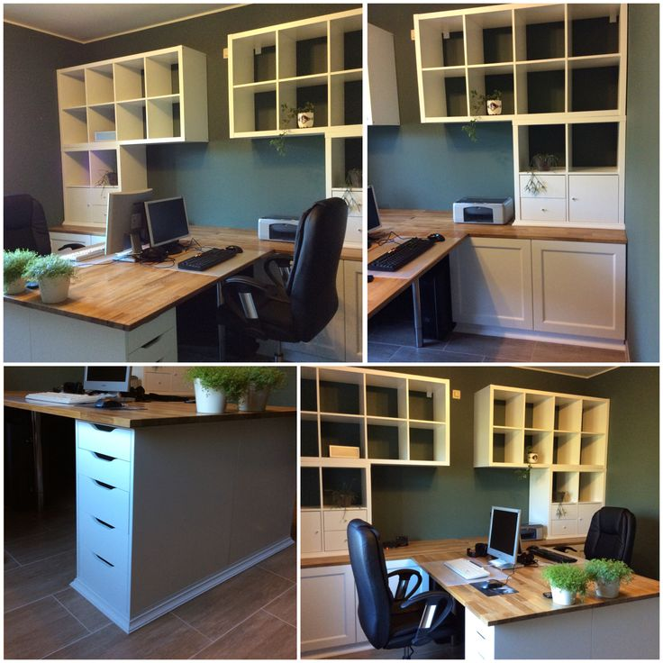 notre bureau diy partir de meubles ikea besta kallax alex plan de travail hammarp desk. Black Bedroom Furniture Sets. Home Design Ideas