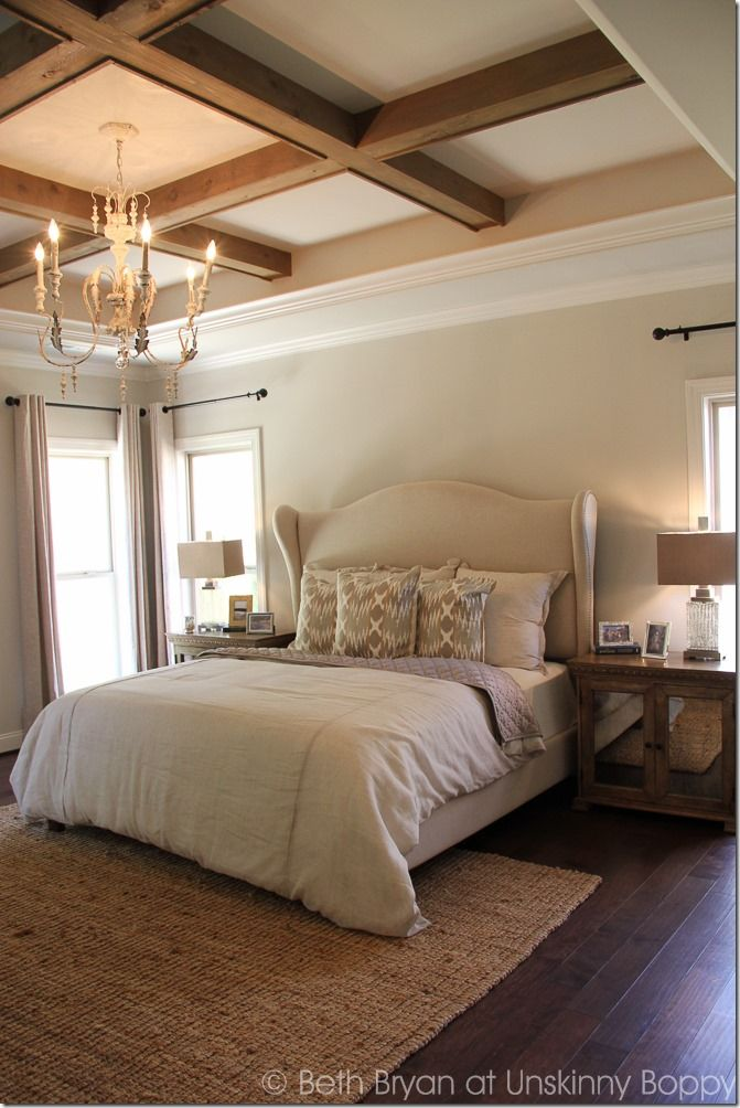 Wooden beams on bedroom ceiling  2015 Birmingham Parade of Homes. Best 25  Bedroom drapes ideas on Pinterest   Bedroom window