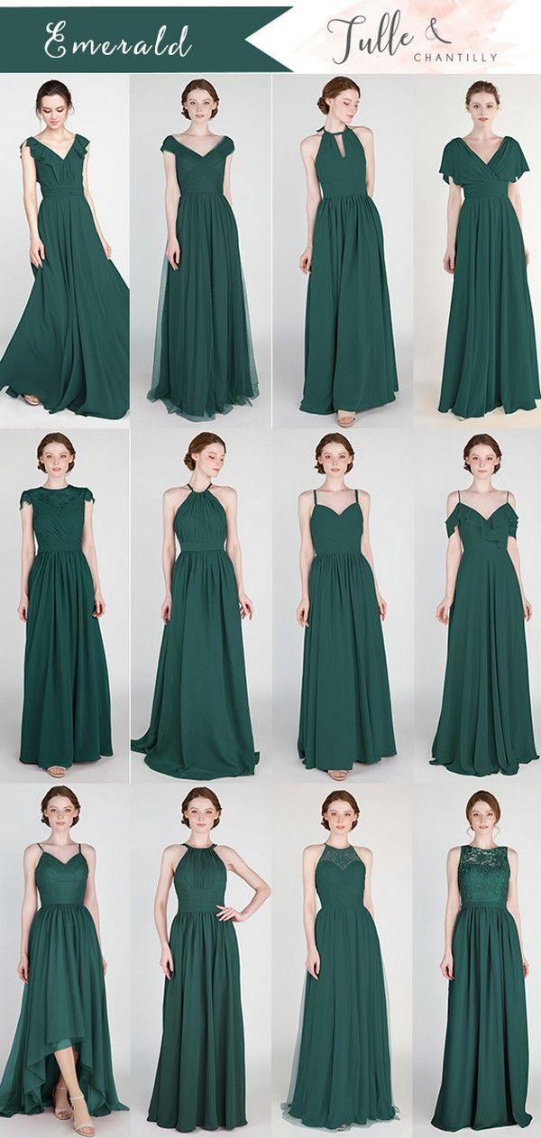 Long Short Bridesmaid Dresses 79 149 Size 0 30 And 50 Colors Emerald Bridesmaid Dresses Green Bridesmaid Dresses Emerald Green Bridesmaid Dresses
