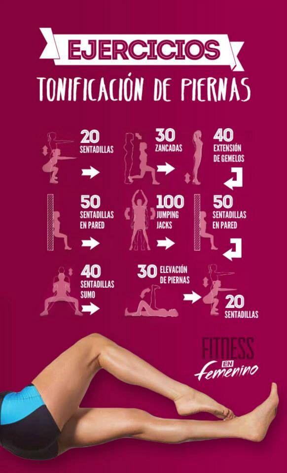 Tonificacion Piernas !! Fitness en Femenino // tone legs