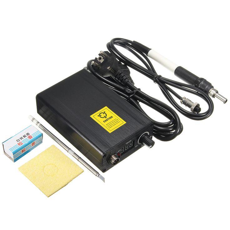 Estación de soldadura de hierro digital de temperatura ajustable de soldadura de soldadura + T12 encargarse de