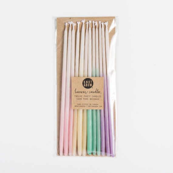 6 Inch Hand-dipped Ombré Beeswax Candles