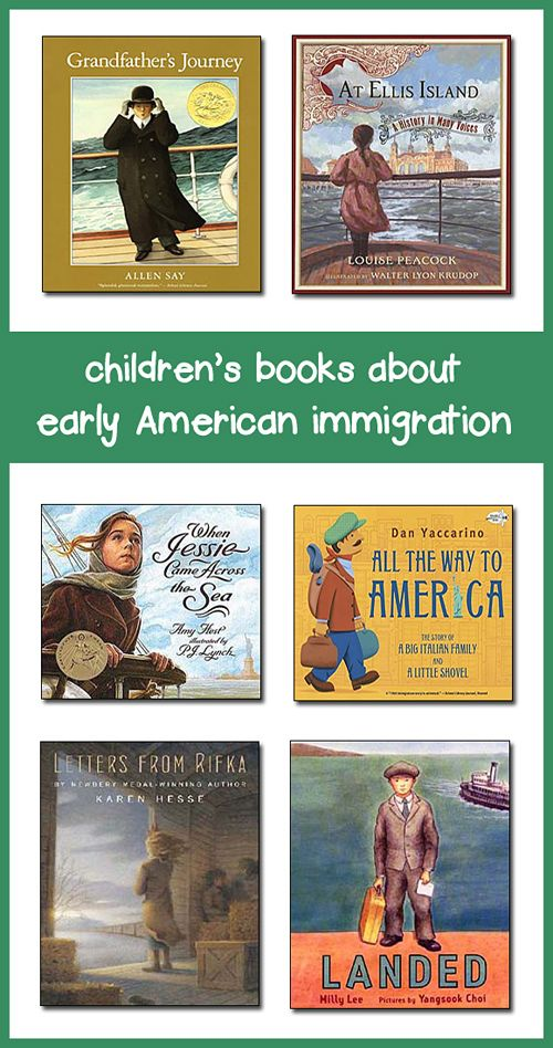 Spice up your immigration lesson plans with the following children's books, which provide engaging depictions of the immigrant's journey to America and early life from the 17th to early 20th century.