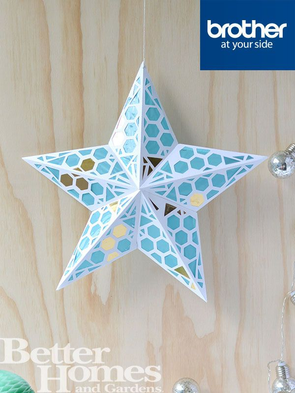 Star Paper Lanterns are a great way to give your home a bit of festive flair. Recreate this one from #CraftHunter @brotherau @crafthunter