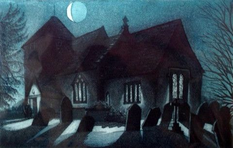 """""""Winter's Night, St Lawrence"""" by Morna Rhys"""