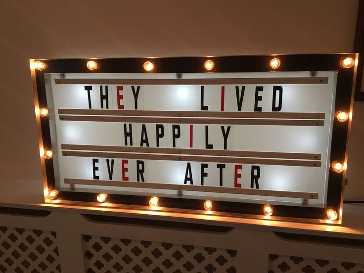 Personalised Cinema Display sign