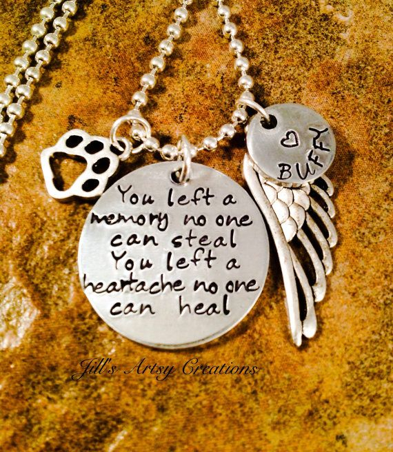 Pet Loss Necklace Dog Cat Memorial Necklace Grief Necklace