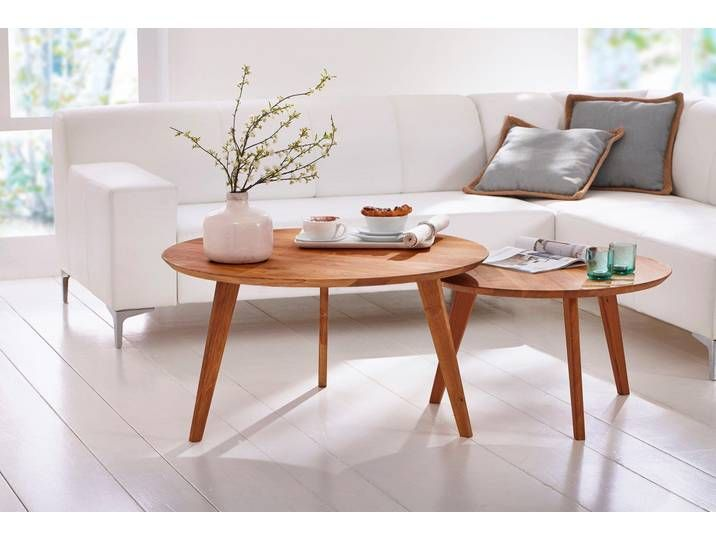 Home Affaire Beistelltisch Olpe Aus Massivholz Hochwertig Verarbei In 2020 Round Coffee Table Center Table Living Room Table