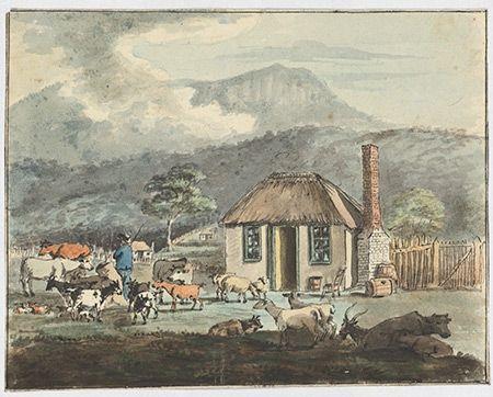 George Prideaux Harris' Cottage at Sullivan's Cove 1806
