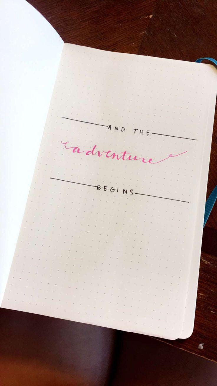 Und das Abenteuer beginnt. #Bullet #Journal #Idee #Notizbuch
