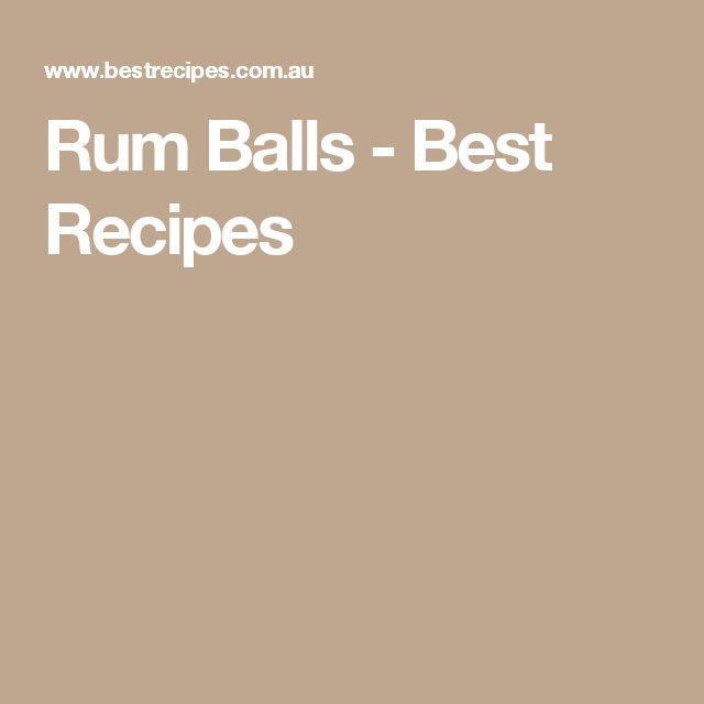 Rum Balls - Best Recipes