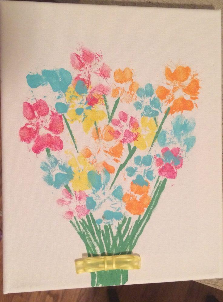 Puppy paw print flower bouquet