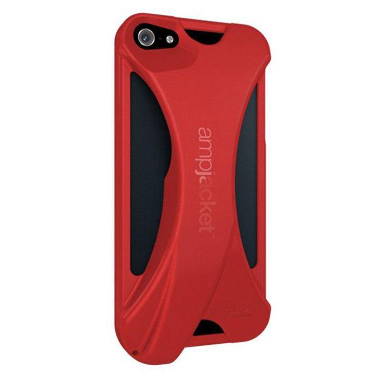 iPhone 5/5S Coque Amplificateur acoustique rouge