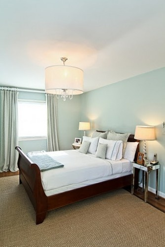 LOVE this color! I am having my bedroom painted in this color :-) Benjamin Moore Palladium Blue HC -144