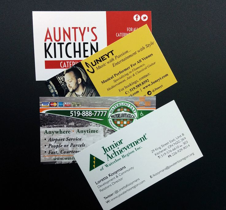 Business cards we have printed in the past on a sturdy 12pt Coated stock.  #printshop #printing #businesscards #kwawesome
