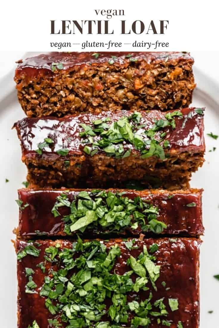Vegan Lentil Loaf Recipe In 2020 Lentil Loaf Lentil Loaf Vegan Lentils