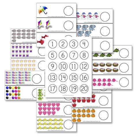 cartes à compter et bouchons