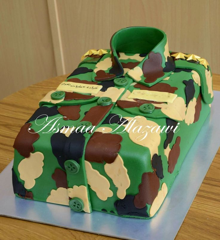 Military cake asmaa alazawi cake pinterest military for Army cake decoration