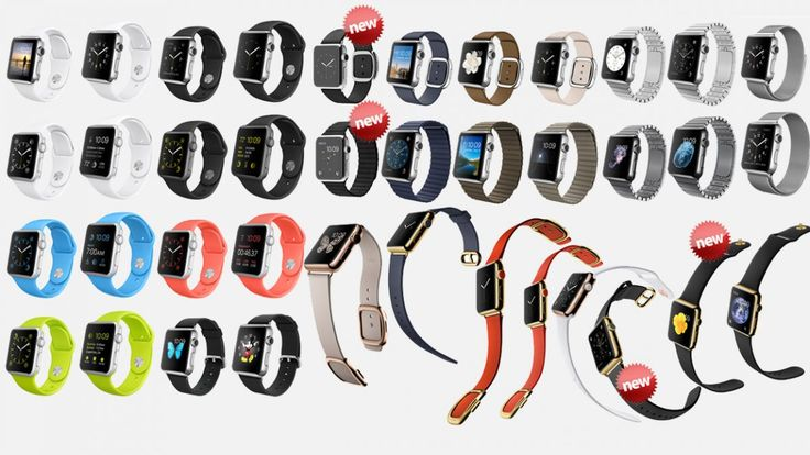 Apple Watch: all the different options.