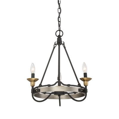 Laurel Foundry Modern Farmhouse Evanston 3 Light Candle-Style Chandelier
