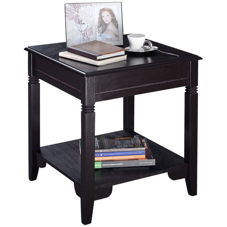 End Table Durable Quality Furniture Shelf Decor Home Living Room Top Quality  #costway #Traditional
