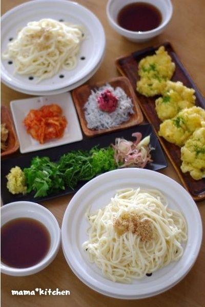 香味野菜たっぷり!トッピングざるうどん。 by Mayu*さん | レシピ ...