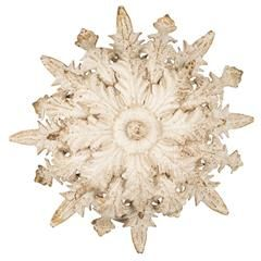 METAL WALL LAMP IN ANTIQUE CREAM COLOR 35X12X35