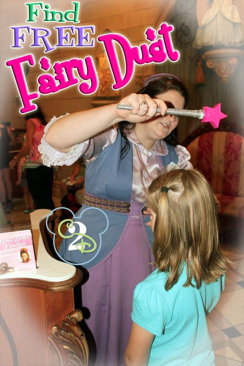 Pin this so you remember to stop by the Bibbidi Bobbidi Boutique located in Cinderella's Castle for a magical treat. When you enter, ask the Fairy Godmother in training to sprinkle your daughter, son or even yourself with Fairy Dust.