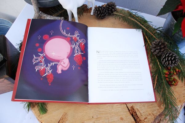 """Illustration of the short story """"The First Christmas""""... by Yolanda Ramírez Michel, Illustration by Casus Olivas  its kind of weird to draw baby jesus fetus XD  visit www.behance.net/casusolivas"""