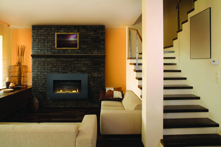 A modern gas fireplace that hangs on your wall. Ideal for modern and contemporary rooms, the Napoleon Plazmafire™ 31 Gas Fireplace features easy installation plus all of the conveniences of a gas fireplace.