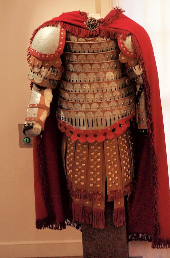 Lamellar Armor with Leather Strips | Hellenic Armors ...  Lamellar Armor ...