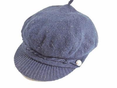 Ralph Lauren Women's Merino Wool Newsboy / Fisherman Hat Navy NWT One Size