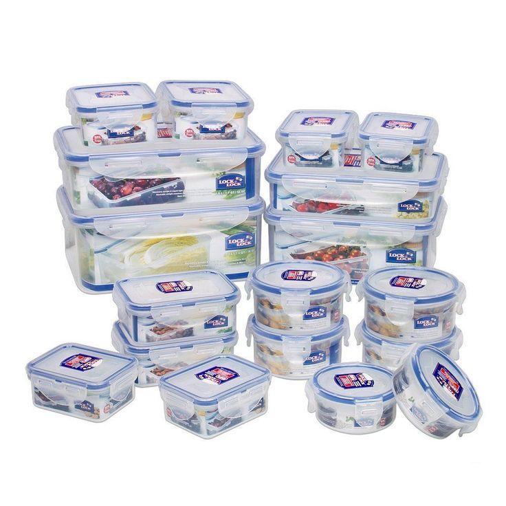 Lock N & Lock Airtight Plastic Kitchen Food Containers Box Storage Tupperware