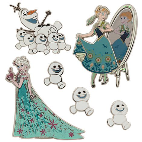 No matter what the temperature outside, this Limited Edition boxed set of six cloisonné pins, inspired by Frozen Fever, will make your collection bloom with pride. Description from yourwdwstore.net. I searched for this on bing.com/images