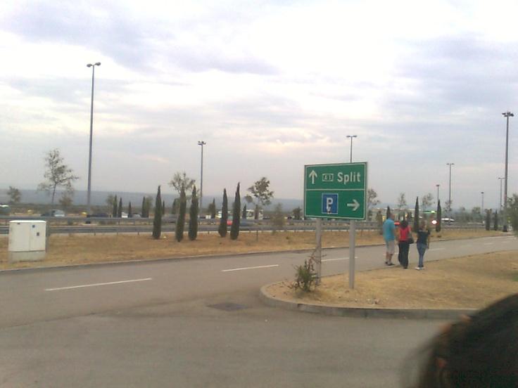 First bus stop in Split.