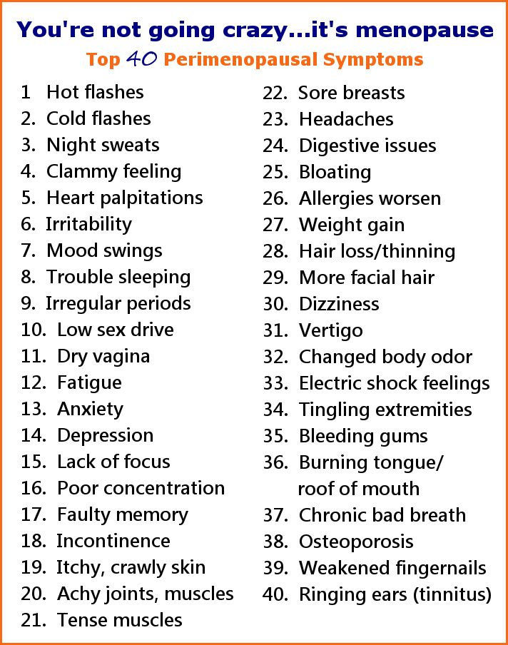 The Top 40 Perimenopausal Symptoms