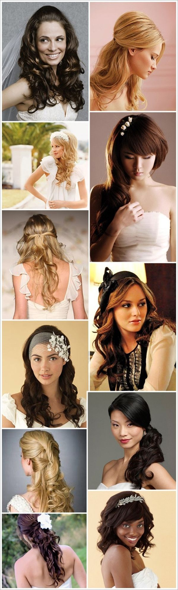 great wedding hairstyle compilation by Sara Roeder of Aisle Candy ...