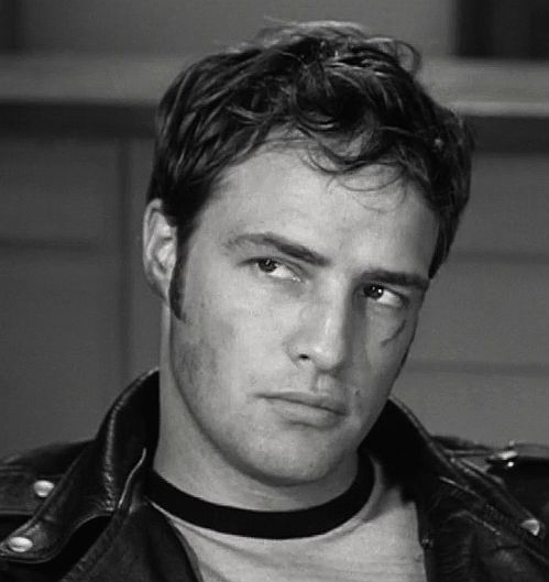 Marlon Brando in The Wild One. 1953.  This makes me weak in the knees and other places.
