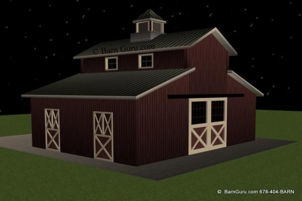 24 best images about small barn plans on pinterest cold for 2 stall horse barn kits