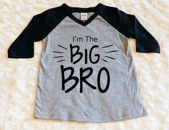 Big Brother Shirt Big Bro Shirt Raglan Shirt Baby and Toddler