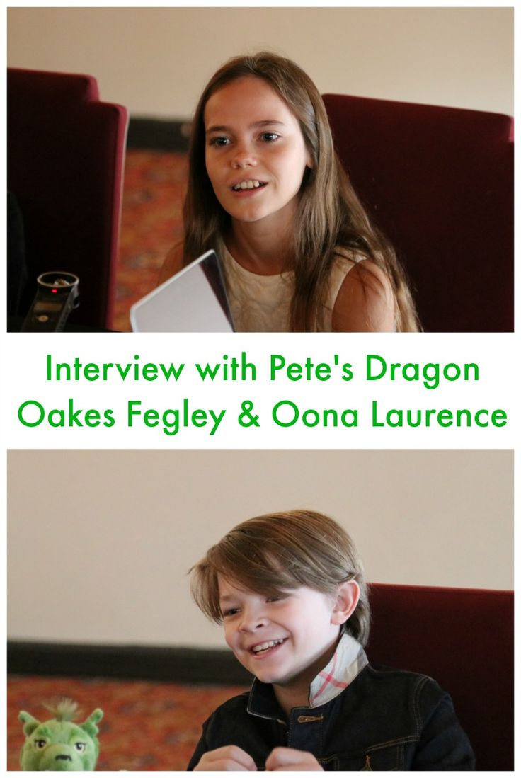 """Check out our interview with Oakes Fegley """"Pete"""" and Oona Laurence """"Natalie"""" from the new Disney film, Pete's Dragon. #PetesDragonEvent"""