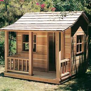 DIY Playhouse plans for a child of a do it yourself builder. Easy to follow info to make a child a nice play house.