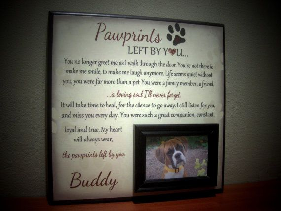 dog picture frame gift memorial sympathy gift loss of a pet in