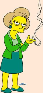 Edna Krabappel (voiced by Marcia Wallace) on Fox's 'The Simpsons.' passed away 10/26/2013.  She would have turned 71 on Nov. 1.  The Edna Krabappel character will be retired from The Simpsons.