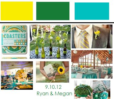 yellow+teal+green+wedding | Teal, Green and yellow. : wedding flowers green inspiration teal ...