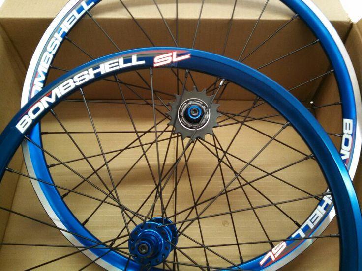Bombshell BMX Racing wheels. Nice!
