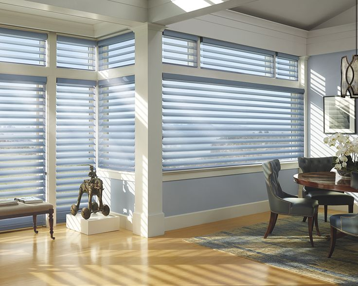 Luxaflex Silhouette Shadings combine the beautiful characteristics of curtains, shades and blinds in a stunning design like no other. Silhouette Shadings can be opened for a full, soft focus view, closed for privacy or tilted for light control. #luxaflexaus #luxaflexsilhouette #luxaflexnewyearsale #homedecor #windowcoverings #windowfashions